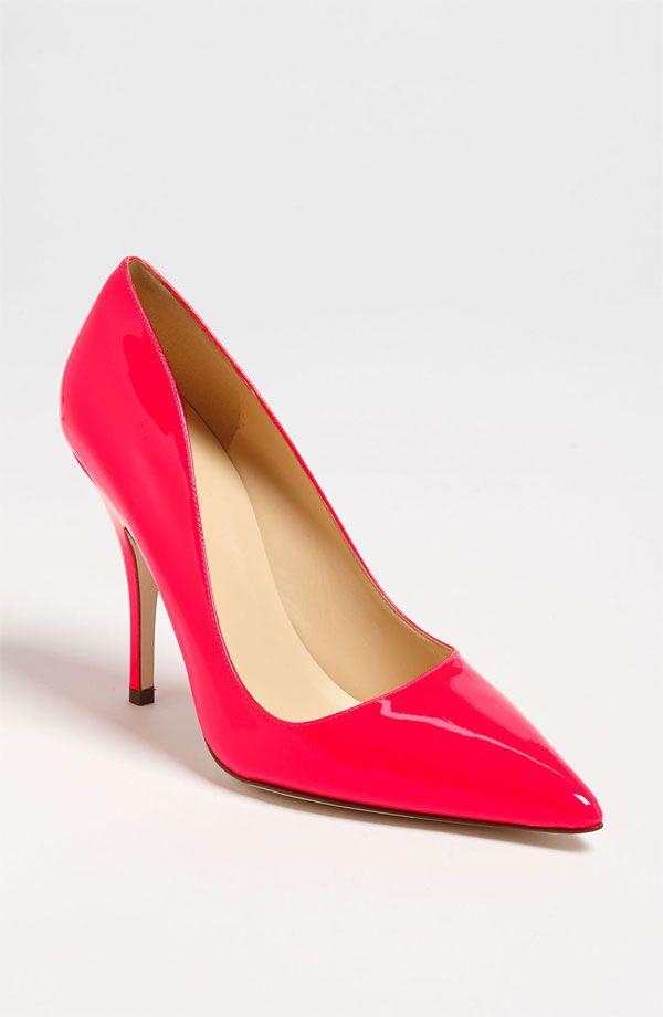 pink Kate Spade pumps