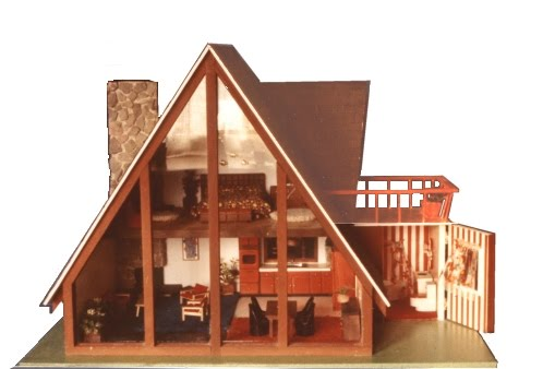 The one and only mattel barbie 1978 a frame dreamhouse for Cheap a frame house kits