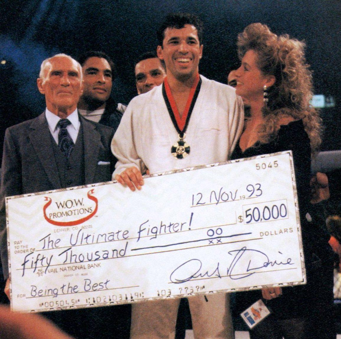 Royce Gracie, ganador del primer evento UFC en el '93.