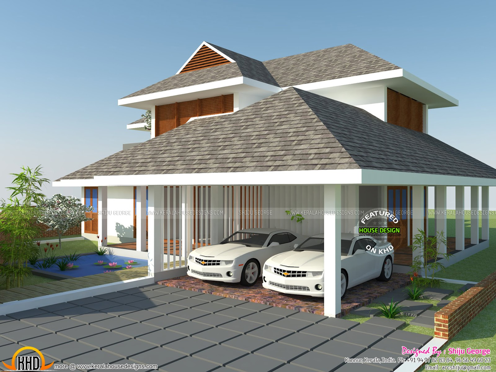 House design for 60 square meter - Sloping Roof G 1 Residence House Facilities