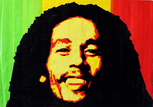 Bob Marley street art  contemporary israel modern painting artist Sonya  Bronya Benigeler
