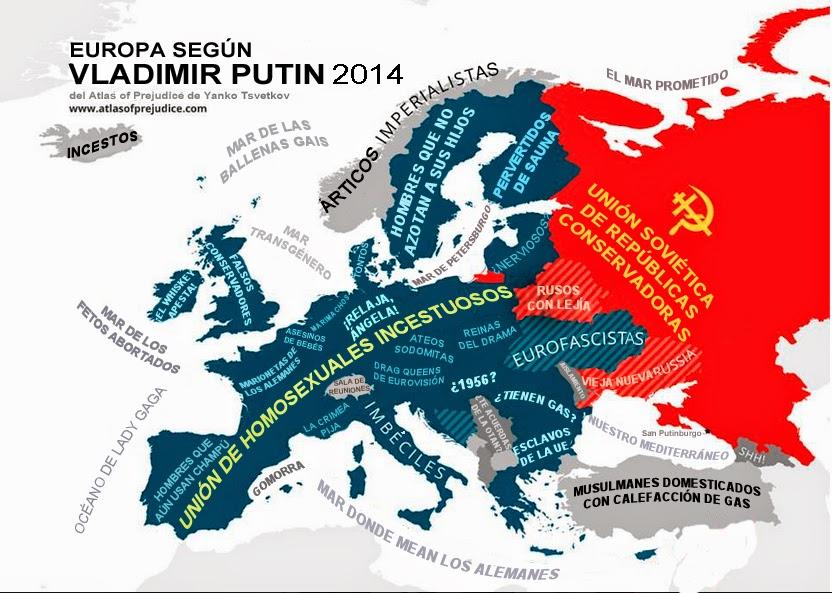 Europa, Vladimir Putin, Visão da Europa segundo Vladimir Putin