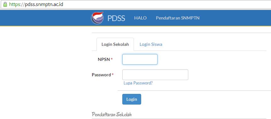 Pengisian PDSS SNMPTN 2015
