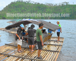 Bamboo rafting in Lake Pandin is cheaper if you are in a group