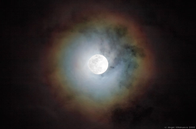 Art frenzy rainbow around the moon What does it mean when the moon is pink