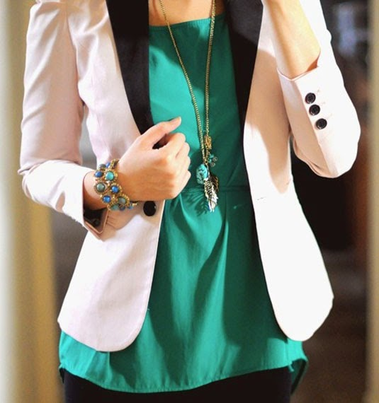 Adorable business work outfits with white blazer fashion