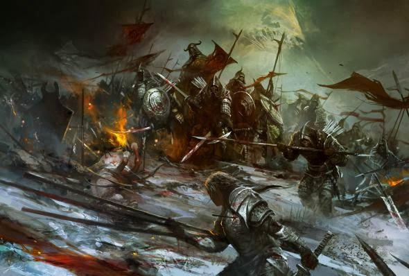 Wenjun Lin illustrations fantasy violence wars battles Undead army