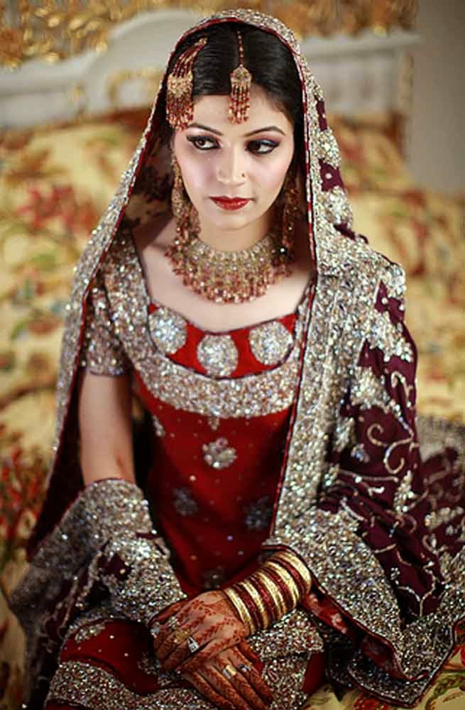 Casual Red Wedding Dresses Bling Pakistani Design pictures hd