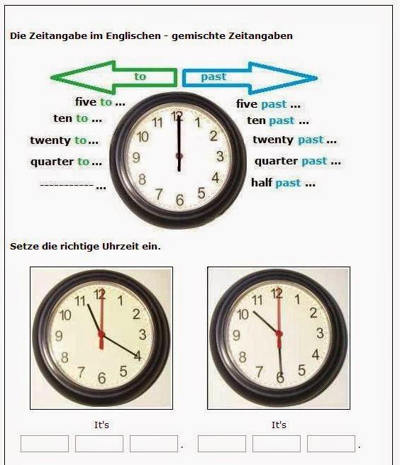 [ #OnlineLernhilfen ] Englisch: Uhrzeiten trainieren mit Arbeitsblu00e4ttern oder online : natu00fcrlich ...