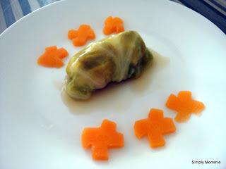 cabbage wrap chicken minis
