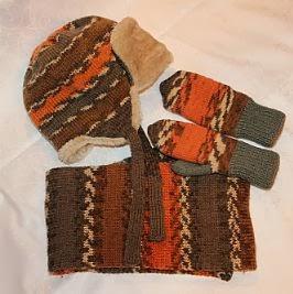 шапка шарф варежки вязаные для мальчика