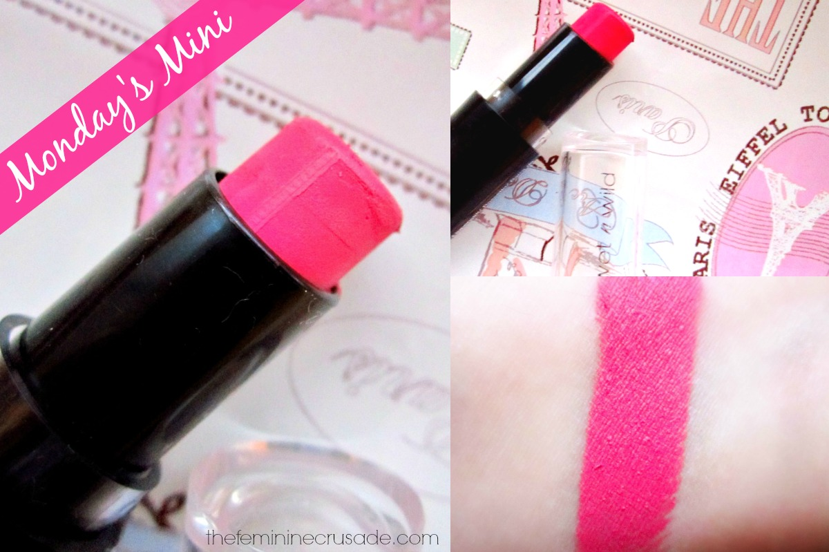 Wet N Wild Mega Last Lipstick in 'Smokin' Hot Pink'