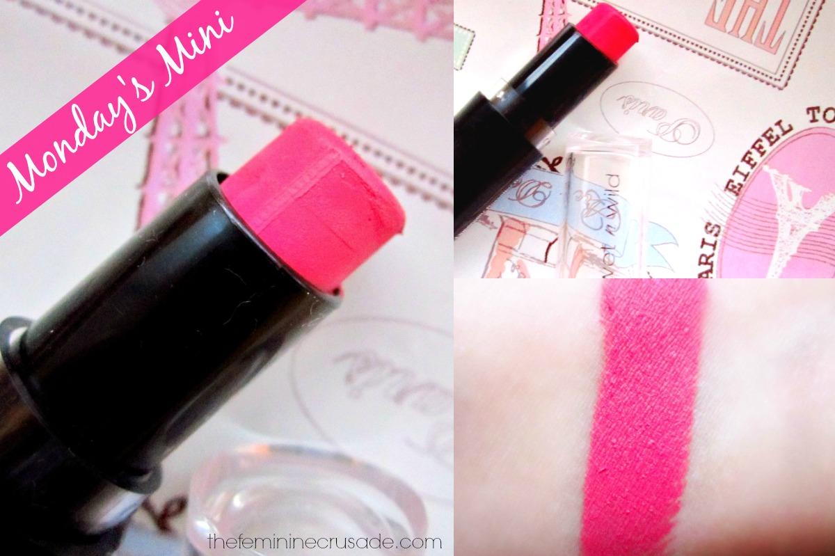 Wet N Wild Mega Last Lipstick in 'Smokin' Hot Pink'