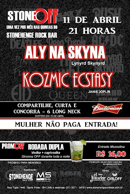 Dia 11 de abril vai rolar o 14º Stone Off no  Stonehenge Rock Bar