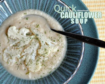 Quick Cauliflower Soup