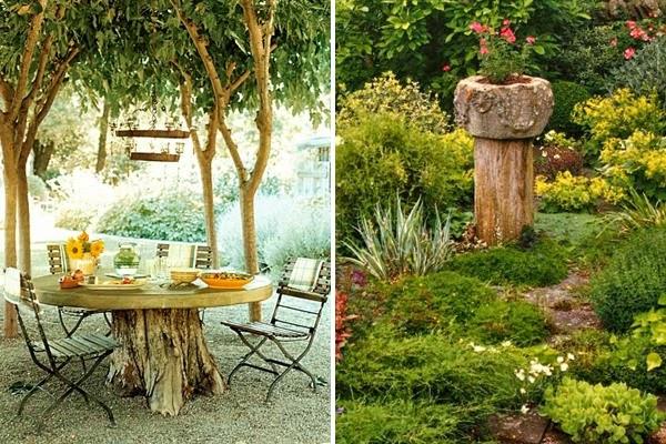 5 ideas para decorar el toc n de un rbol talado guia de - Arboles decorativos para jardin ...