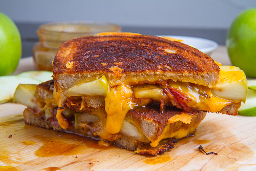 Caramel Apple Grilled Cheese Sandwich (with Bacon) on Closet Cooking