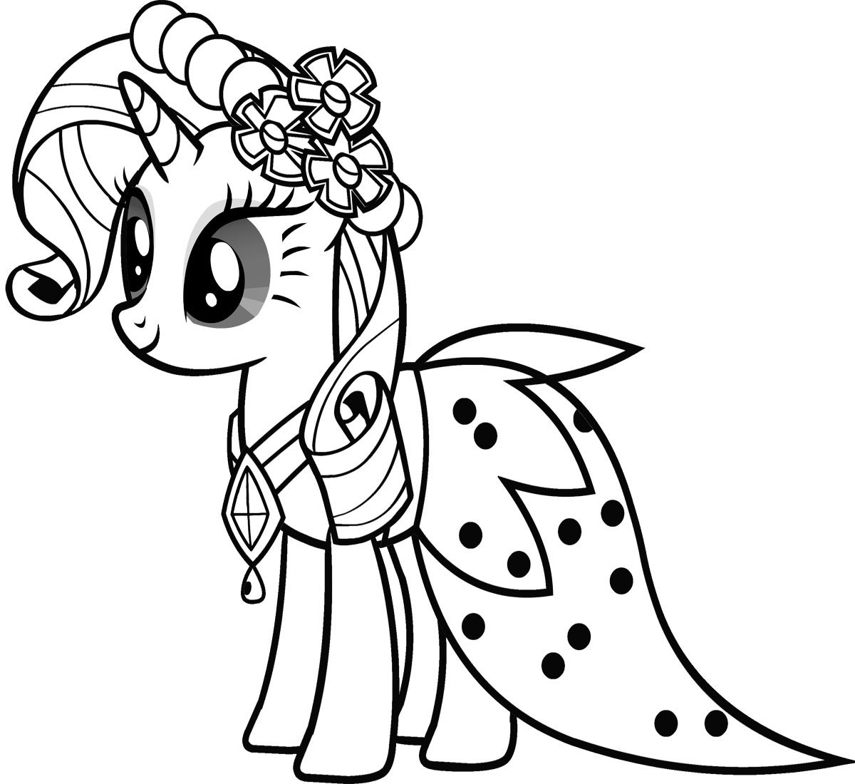 My little pony unicorn coloring pages - My Little Pony Unicorn Coloring Pages 50