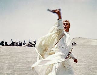 Lawrence attacking Lawrence of Arabia 1962 movieloversreviews.blogspot.comt