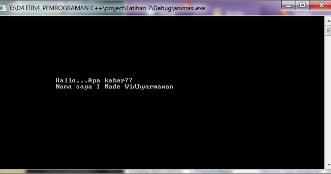 Made for you: Membuat Animasi Text dengan C++