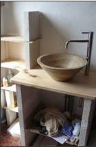 Tout fabriquer soi m me construire son meuble de salle de bains en b ton cellulaire - Construire meuble de salle de bain ...
