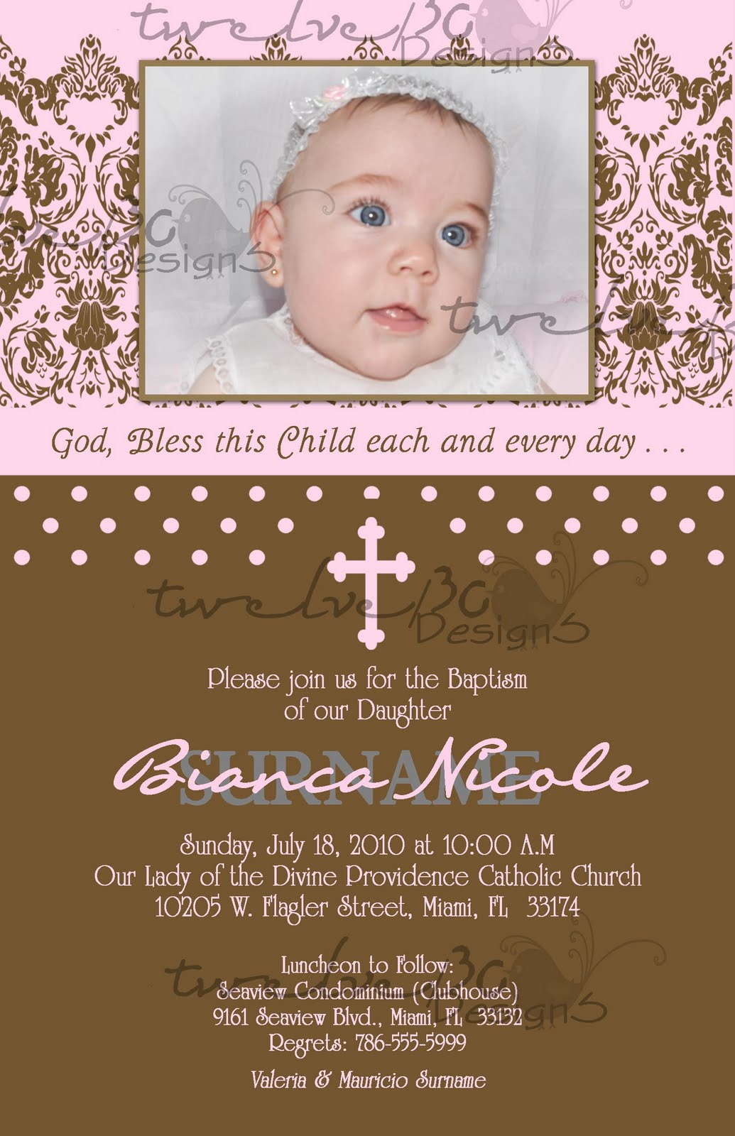 Babtism Invitation for beautiful invitations design