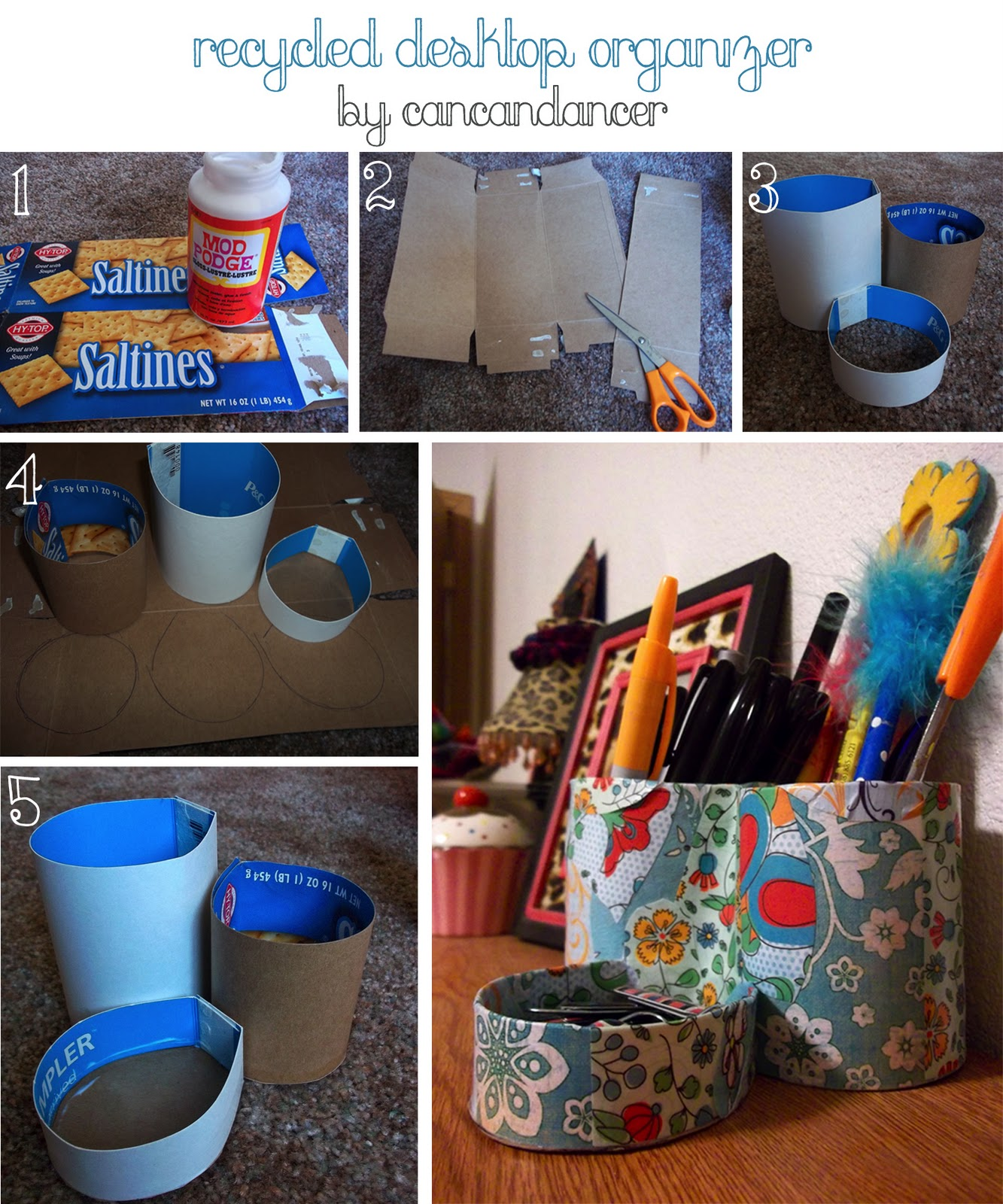 Diy Desk Organizer Interesting Diy Desk Organizer Tutorial D For Design