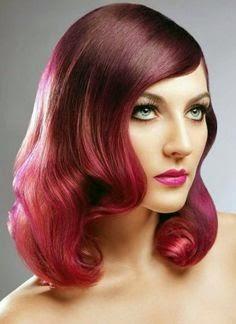 cortes de pelo color rojo vibrante para pelo largo 2017