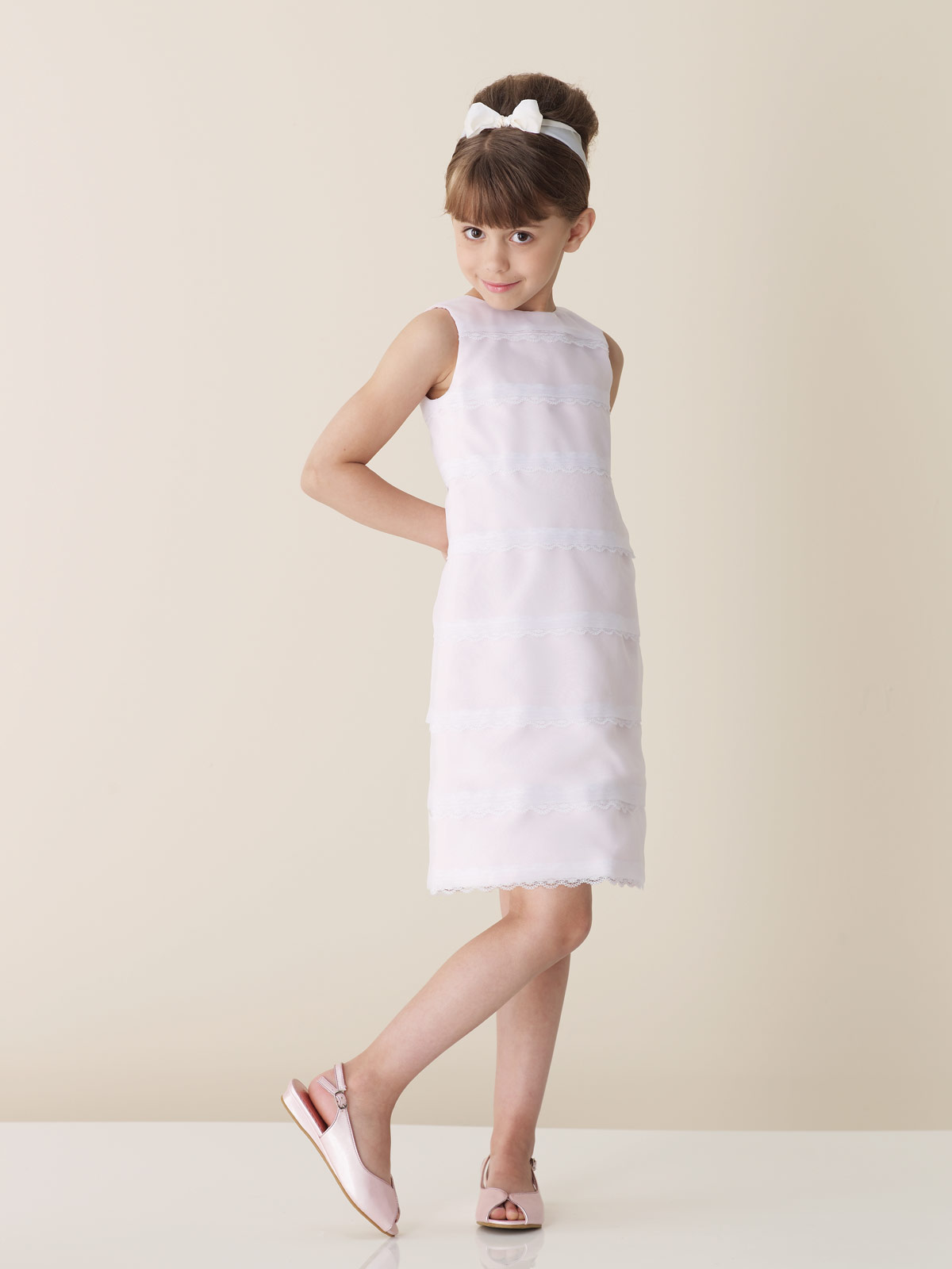 white short junior bridesmaid dress