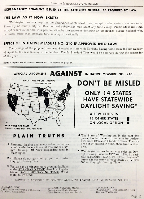 page from voter's pamphlet describing initiative 210 con