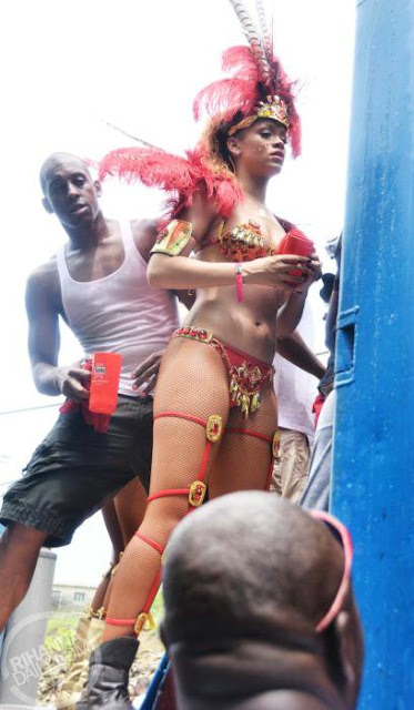 Rihanna Dresses Up For The Kadooment Parade In Barbados (PHOTOS)