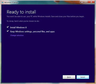 win 8 installation process