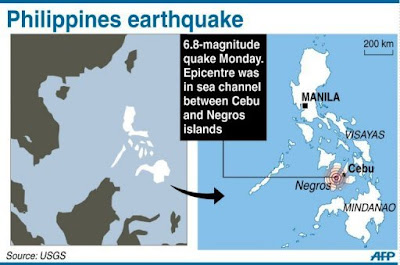 Earthquake February 6, 2012 Philippines Negros Cebu