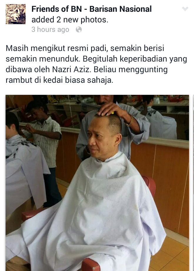 2 Menteri Liberal UMNO KJ Nazri Aziz buat Trend GUNTING RAMBUT ZUHUD pula Selepas Ice Bucket Challenge