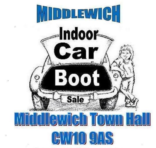 INDOOR CAR BOOT SALES AT MIDDLEWICH TOWN HALL