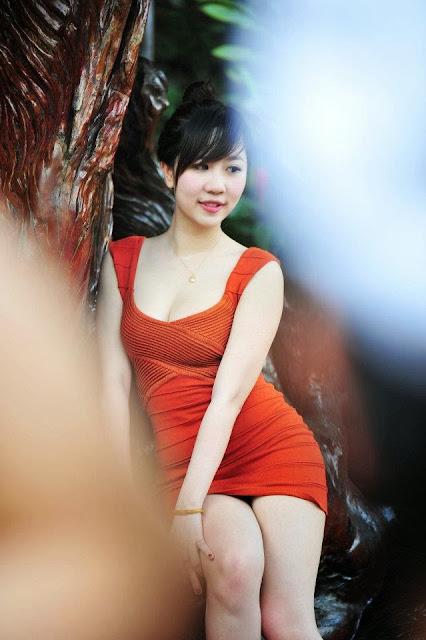 Nu Pham - Lovely witd dress orange