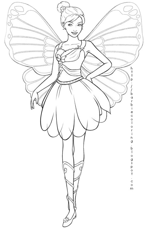 Coloring Pages Princess Fairies : Fairy coloring pages