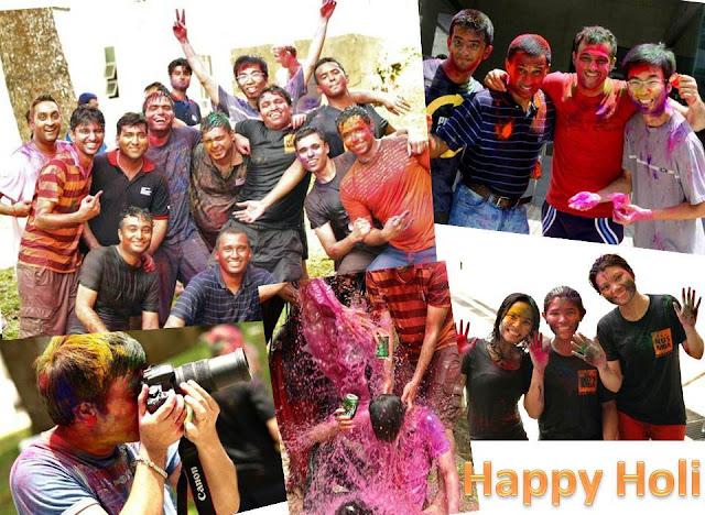 NUS MBA student life- celebrating holi