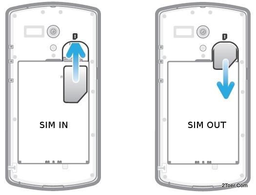 Install SIM Card Remove Insert Slot Sony Xperia neo L MT25