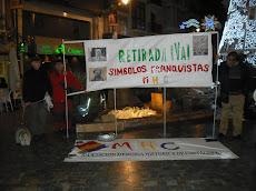 CONCENTRACIÓN: Por la Retirada YA  de los símbolos Franquista del Municipio de Cartagena