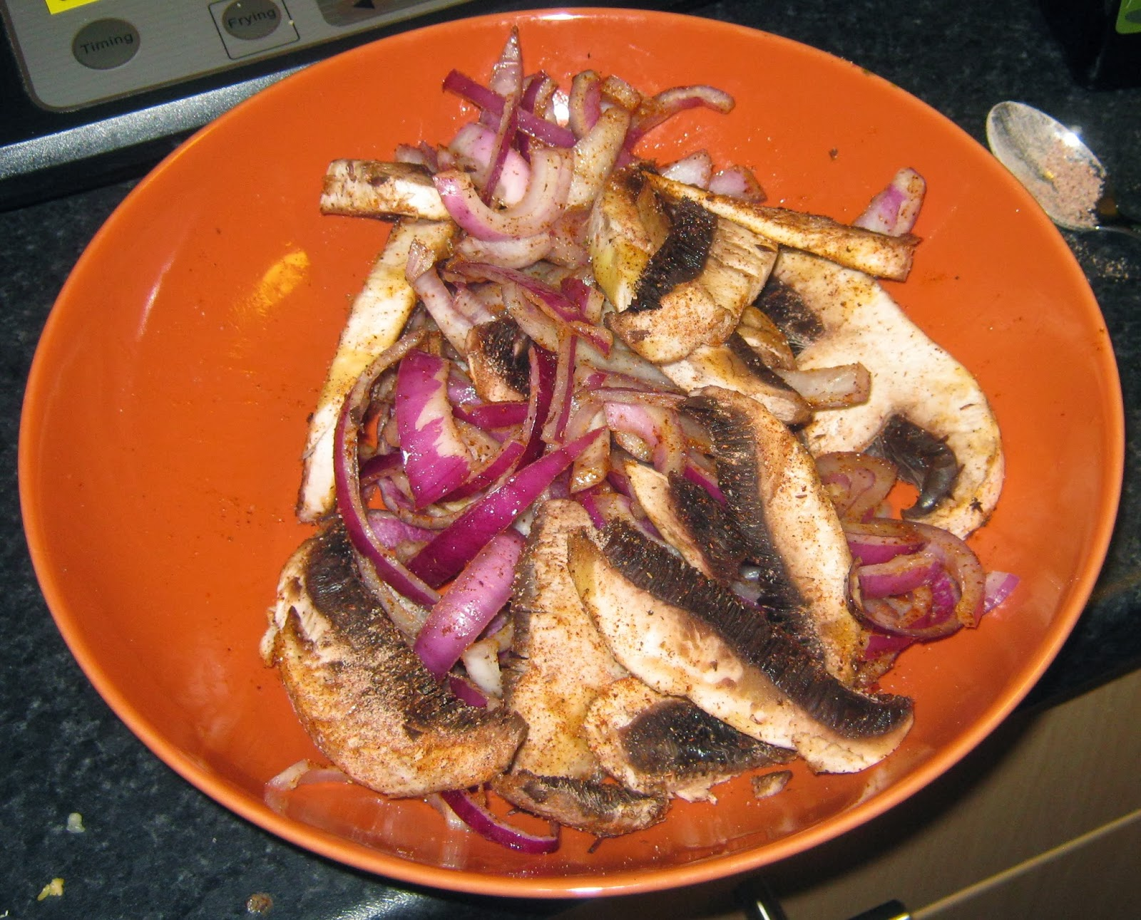spiced mushrooms and onions