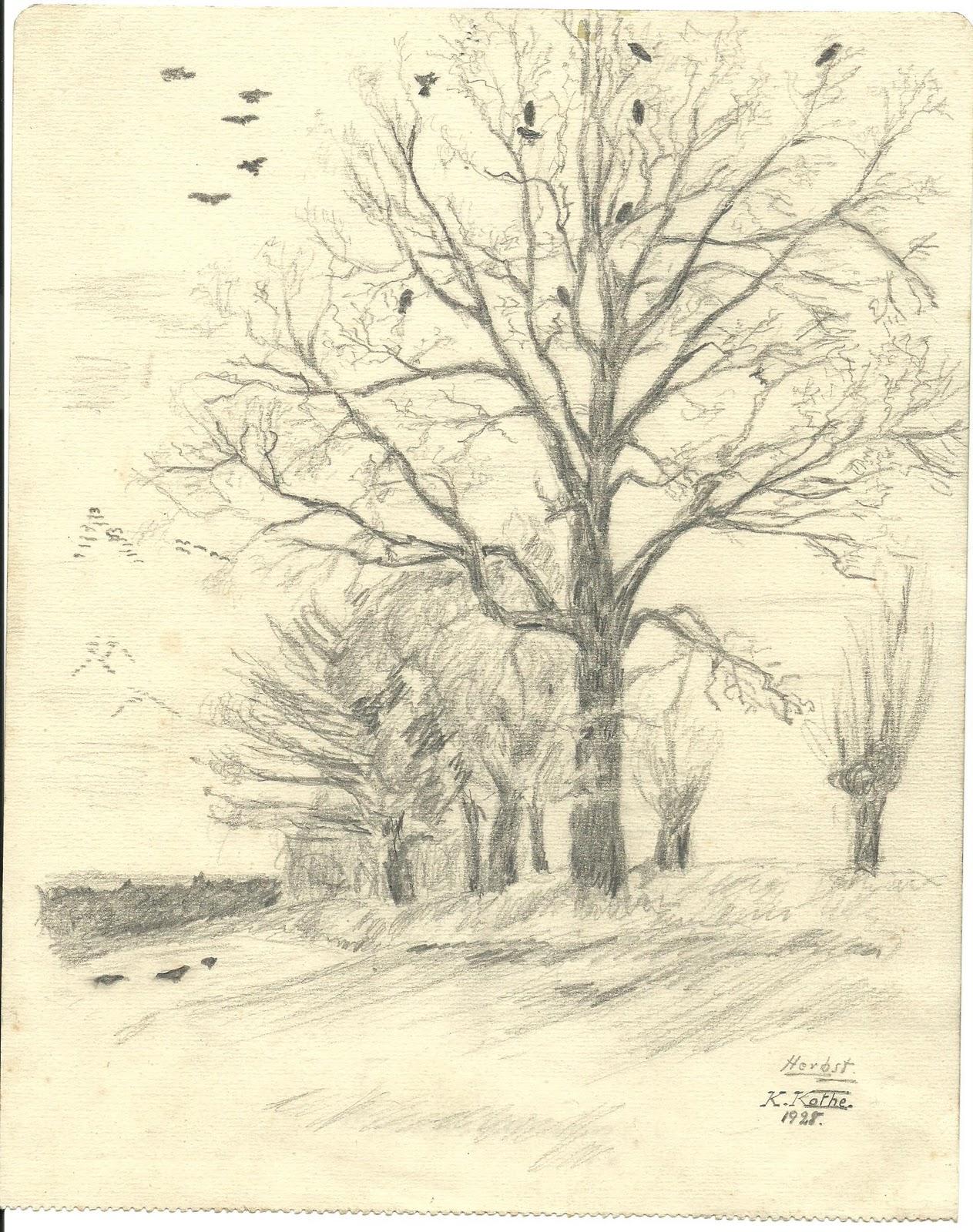 Kothes Landschaftszeichnungen ca nach 1928