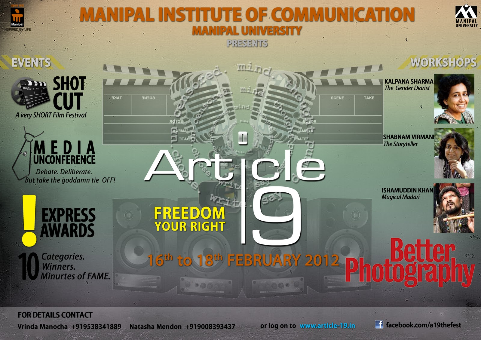 Poster design article - Here Showcased Are Some Posters I Had Designed For The Fest Article 19 2012 Conducted By Manipal Institute Of Communication Manipal University Manipal