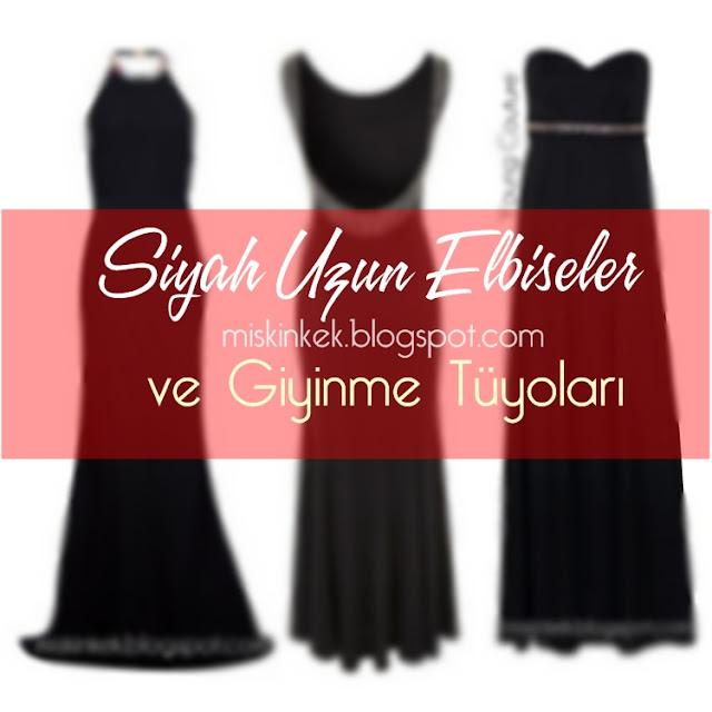 siyah uzun elbise modelleri