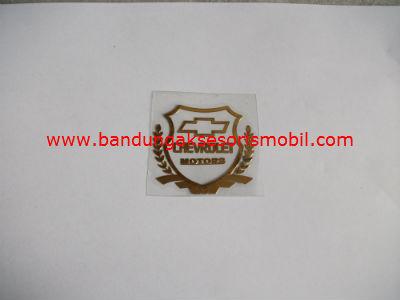 Emblem Alumunium Kotak Kecil Logo Mobil Chevrolet