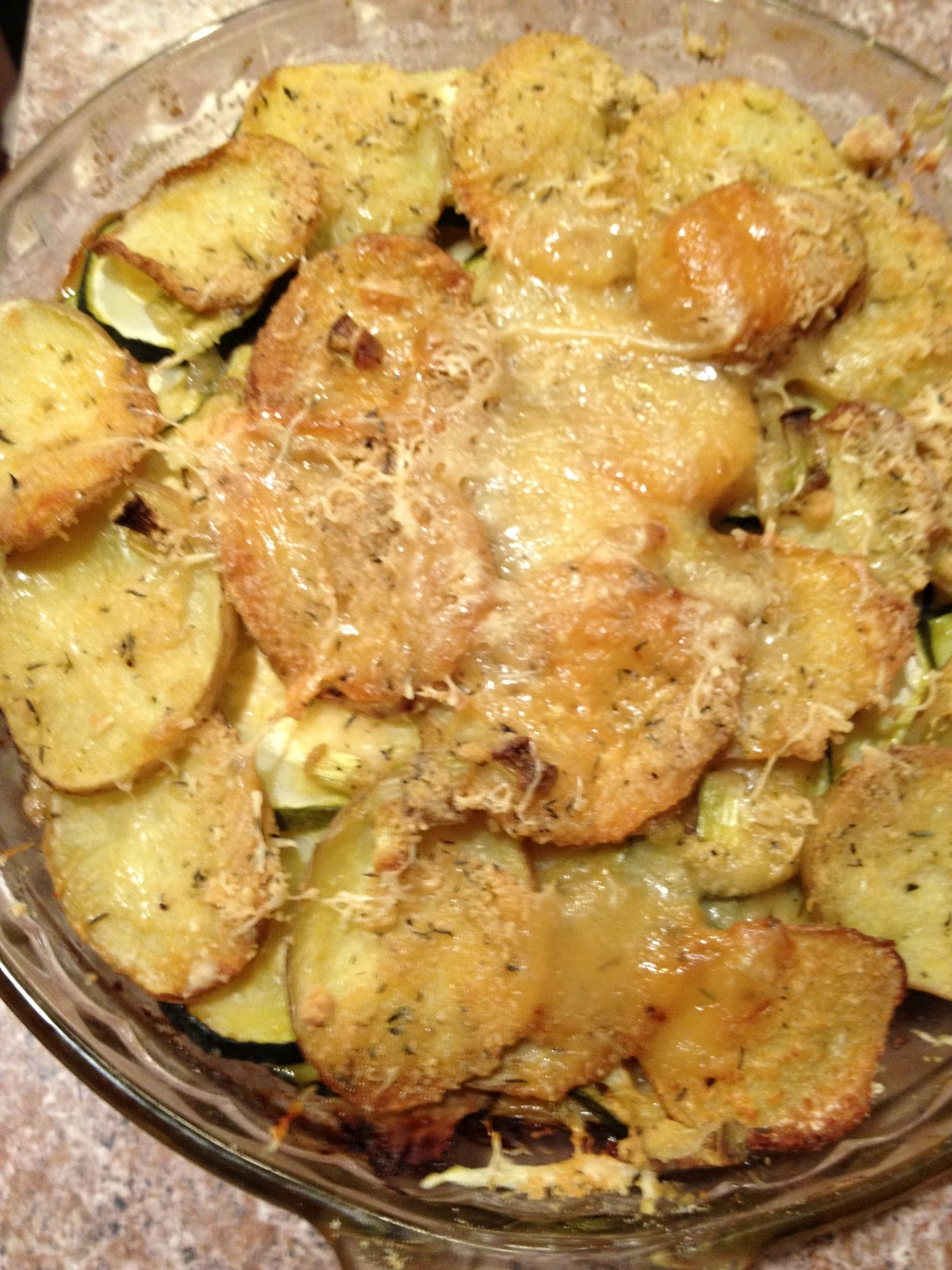 ... in Elgin, Texas: Herbed Summer Squash and Potato Torte with Parmesan