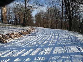 雪道ランニング