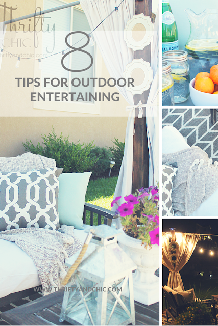 Great tips on decor for outdoor entertaining