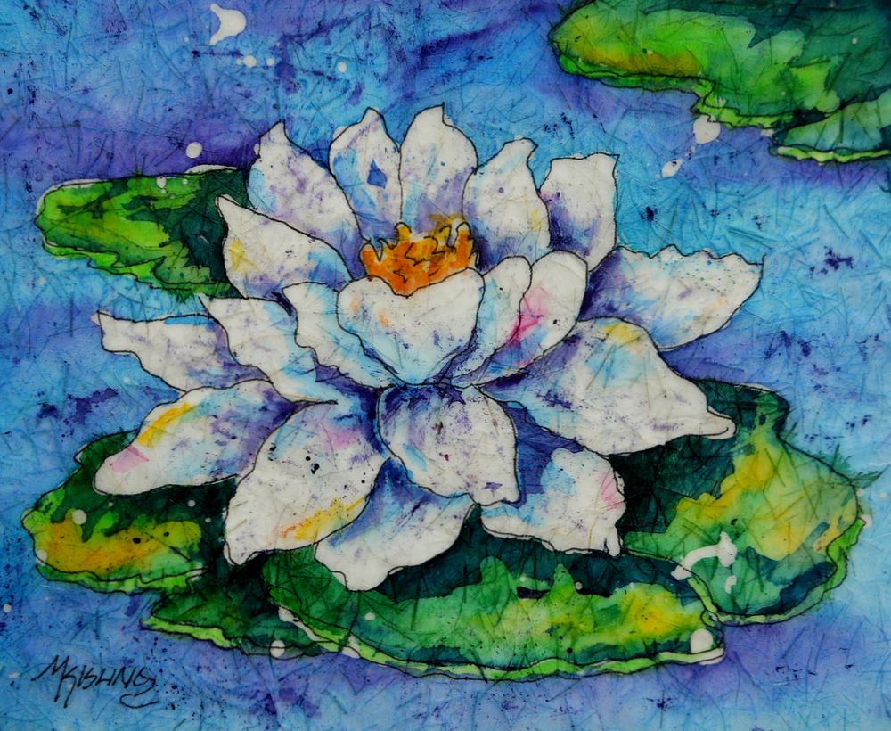 Martha Kisling Art With Heart Water Lily Pad Batik