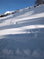 Off-piste tracks in Obergurgl